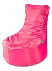 Rosa Sitzsack mit einer Lehne