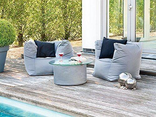 Sitzsack outdoor auf terrasse